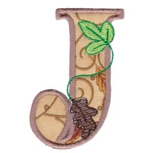 Embroidery Design Set - Autumn Alphabet J