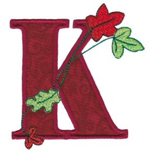 Embroidery Design Set - Autumn Alphabet K