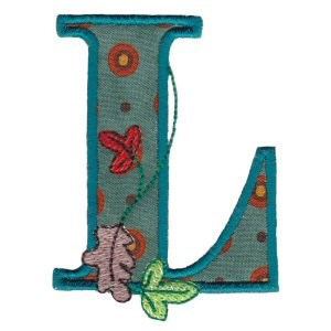 Embroidery Design Set - Autumn Alphabet L