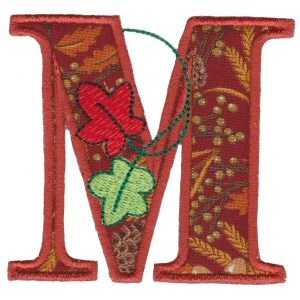 Embroidery Design Set - Autumn Alphabet M