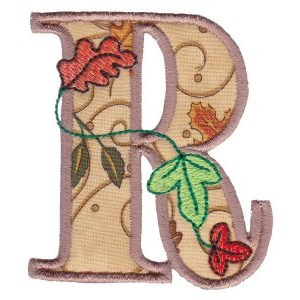 Embroidery Design Set - Autumn Alphabet R