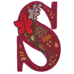Embroidery Design Set - Autumn Alphabet S