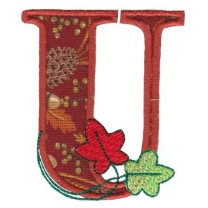Embroidery Design Set - Autumn Alphabet U
