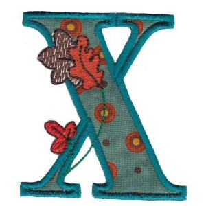 Embroidery Design Set - Autumn Alphabet X