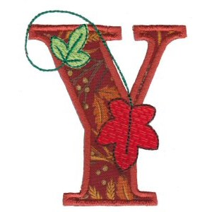 Embroidery Design Set - Autumn Alphabet Y