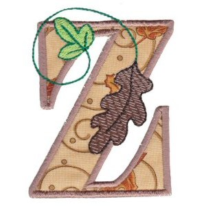 Embroidery Design Set - Autumn Alphabet Z