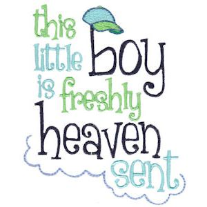 Embroidery Design Set - Baby Boy Sentiments 7