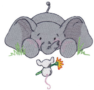 Machine Embroidery Designs  Baby Elephant  Bunnycup