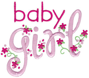 Machine Embroidery Designs  Baby Girl Sentiments
