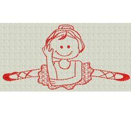 Ballet Redwork 5