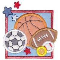 Embroidery Design Set - Box Sports Applique