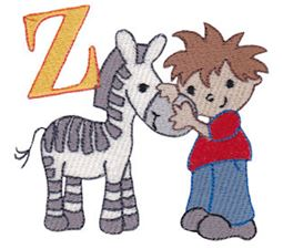 Boys Alphabet Z