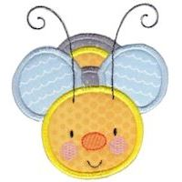 Embroidery Design Set - Busy Bees Applique