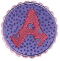 Button Applique Alphabet
