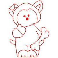 Carnival Bears Redwork