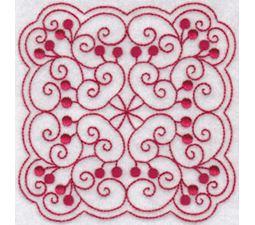 Cherries Quilt Blocks Redwork 12