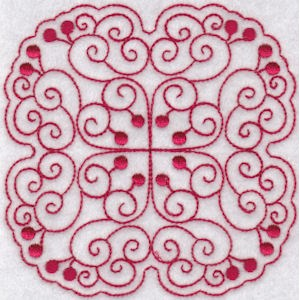 Embroidery Design Set - Cherries Quilt Blocks Redwork 2