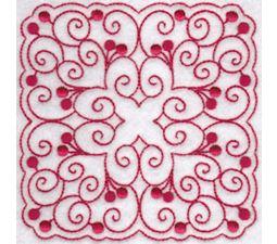 Cherries Quilt Blocks Redwork 4