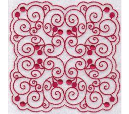 Cherries Quilt Blocks Redwork 8
