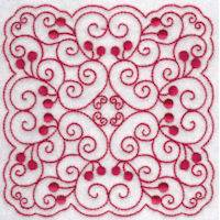 Cherries Quilt Blocks Redwork
