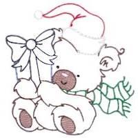 Christmas Bears Vintage Stitch