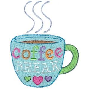 Embroidery Design Set - Coffee Break 11
