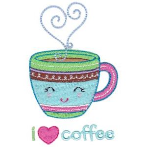Embroidery Design Set - Coffee Break 4