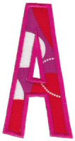 Comic Alphabet Applique