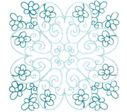 Country Flowers Quilt Blocks 12