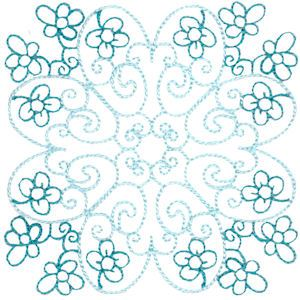 Embroidery Design Set - Country Flowers Quilt Blocks 12