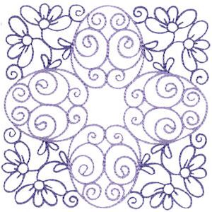 Embroidery Design Set - Country Flowers Quilt Blocks 2