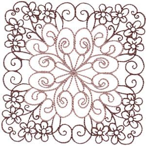 Embroidery Design Set - Country Flowers Quilt Blocks 4