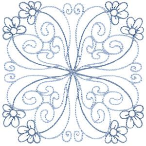 Embroidery Design Set - Country Flowers Quilt Blocks 7