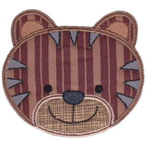 Embroidery Design Set - Cute Animal Faces Applique 10