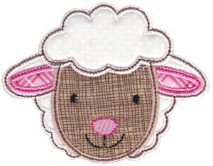 Cute Animal Faces Applique 12