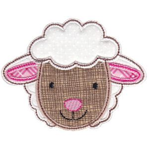 Embroidery Design Set - Cute Animal Faces Applique 12