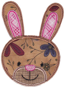 Cute Animal Faces Applique 14