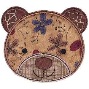 Embroidery Design Set - Cute Animal Faces Applique 16