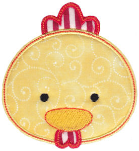 Cute Animal Faces Applique 17
