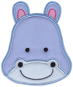 Cute Animal Faces Applique 2