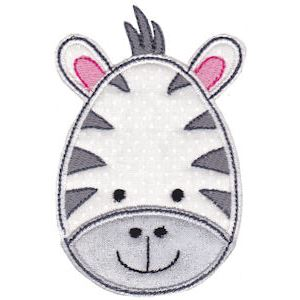 Embroidery Design Set - Cute Animal Faces Applique 4