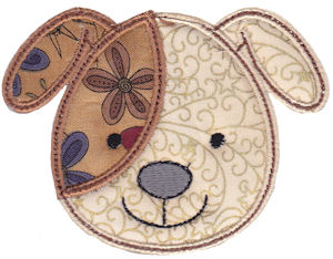 Cute Animal Faces Applique 5