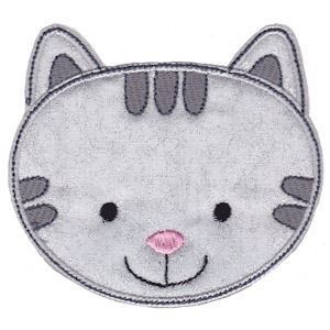 Embroidery Design Set - Cute Animal Faces Applique 6