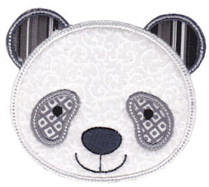 Cute Animal Faces Applique 8