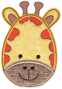 Cute Animal Faces Applique 9