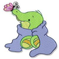 Embroidery Design Set - Cute Croc