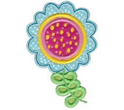 Cute Flower Applique 7