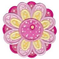 Embroidery Design Set - Cute Flower Applique