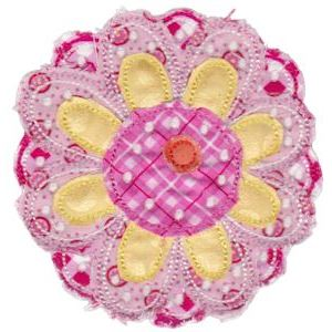 Embroidery Design Set - Cute Flower Raggedy Applique 1