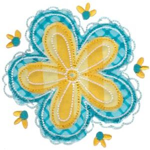 Embroidery Design Set - Cute Flower Raggedy Applique 10